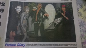 Our models in Evening Echo Jan 16